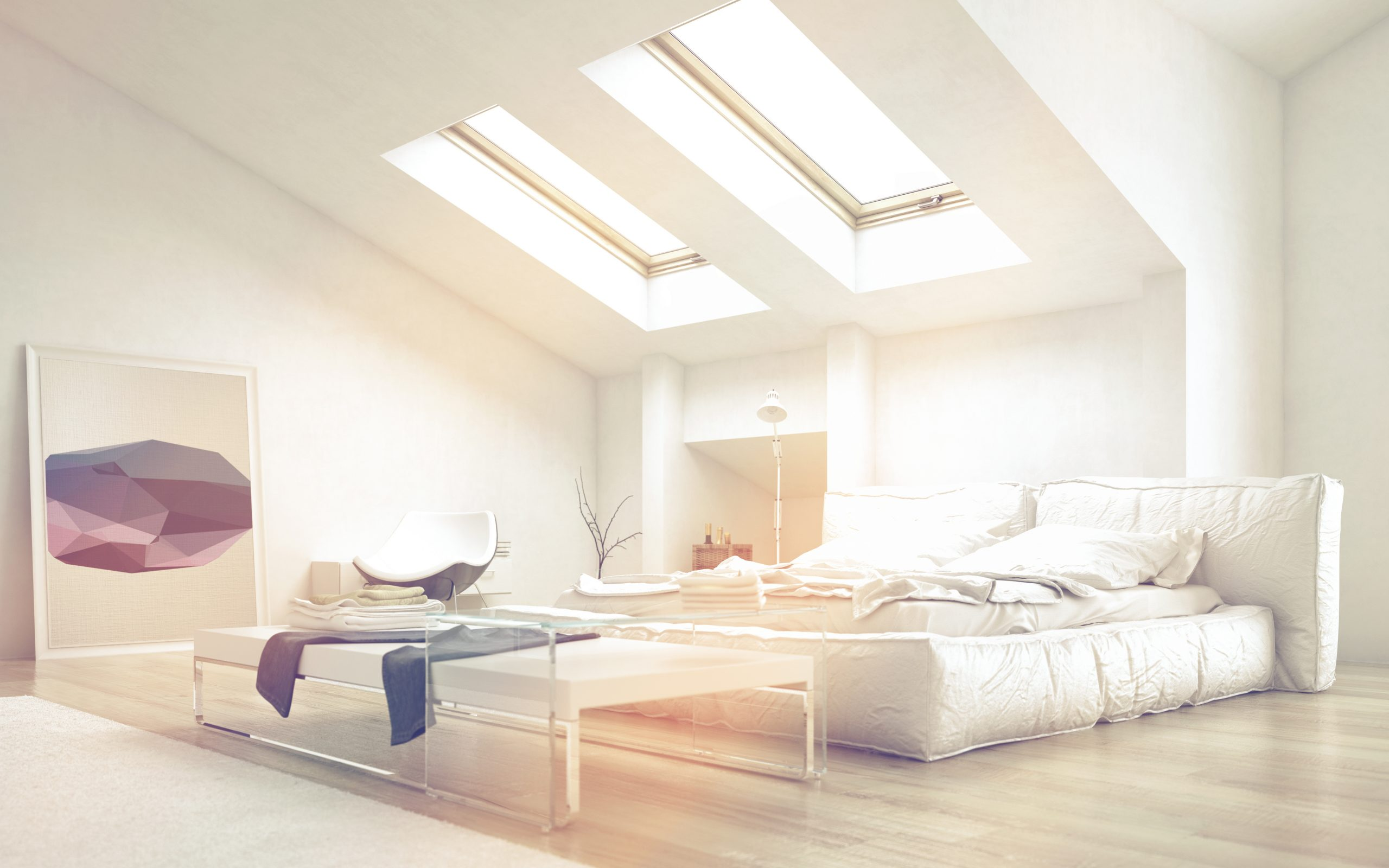 Solatube skylight in a living room.